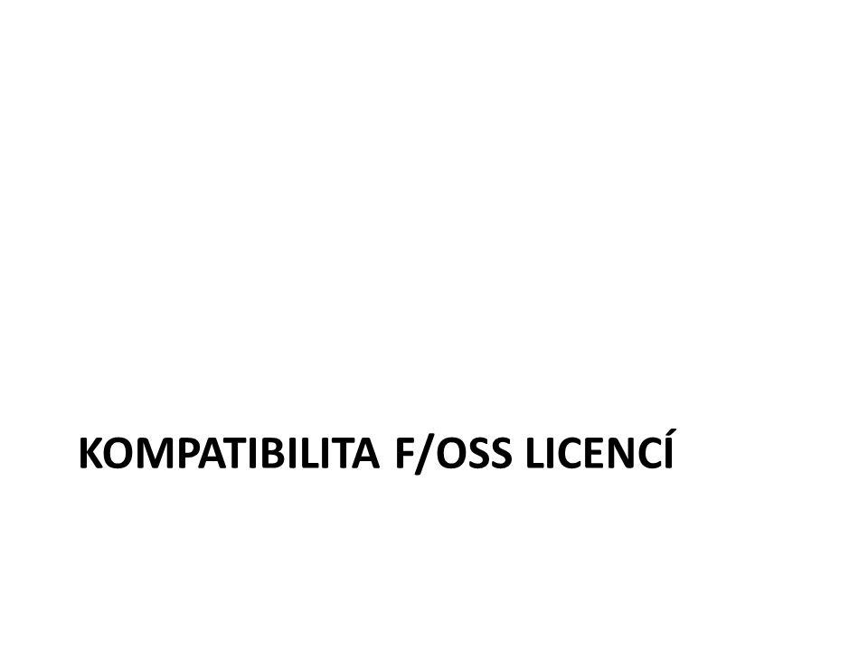 KOMPATIBILITA F/OSS LICENCÍ