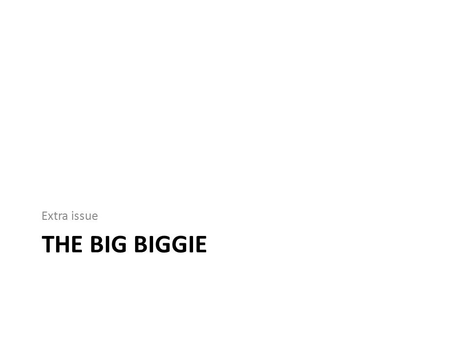 THE BIG BIGGIE Extra issue