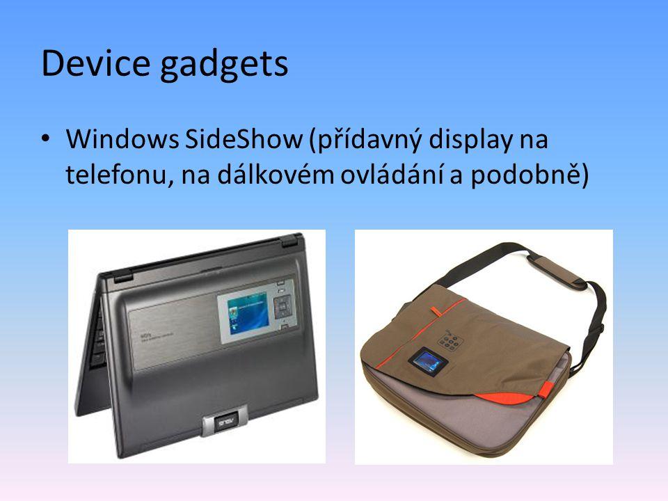 Web gadgets někdy též Live Gadgets Windows Live Spaces – Live.com