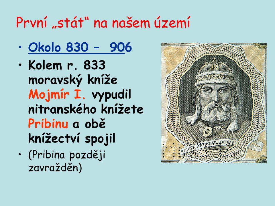 Název Velká Morava- byzantský císař Konstantin Porfyrogenetos, 10. stol. Záhadný počátek i konec Krátké trvání Období mezi koncem Sámovy říše a vládou