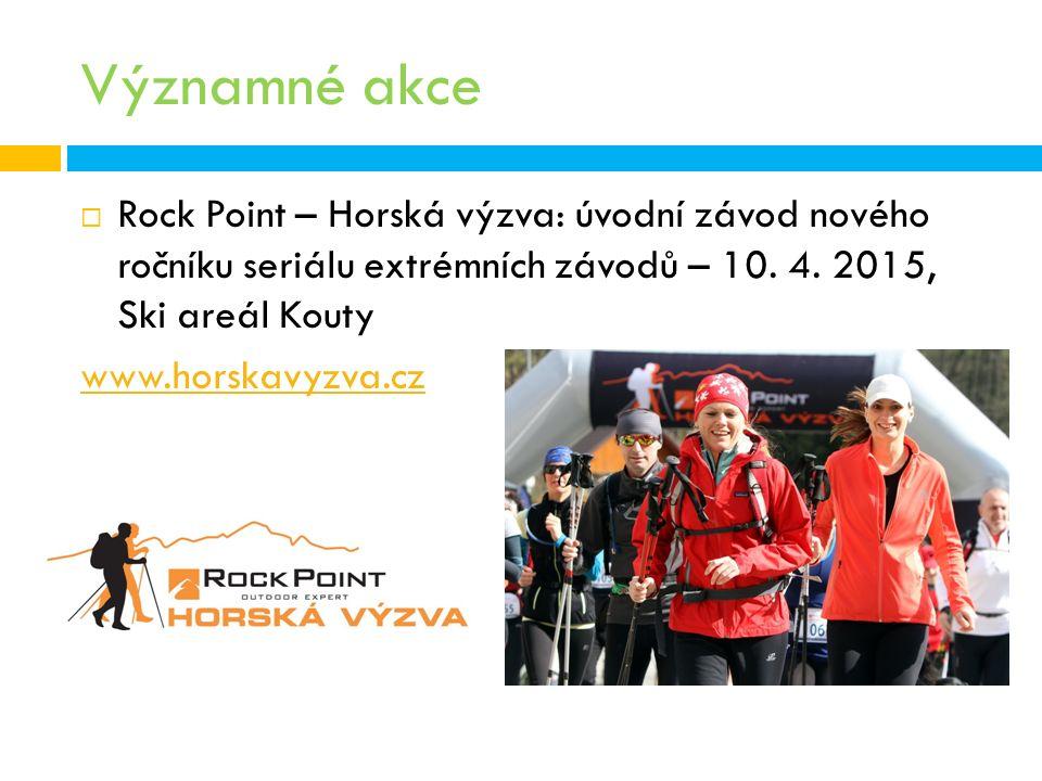 Významné akce  Rock Point – Horská výzva: úvodní závod nového ročníku seriálu extrémních závodů – 10.