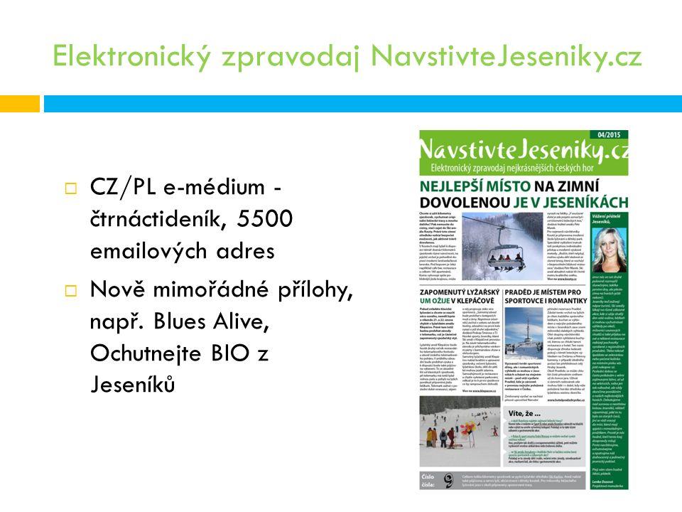 Elektronický zpravodaj NavstivteJeseniky.cz  CZ/PL e-médium - čtrnáctideník, 5500 emailových adres  Nově mimořádné přílohy, např.
