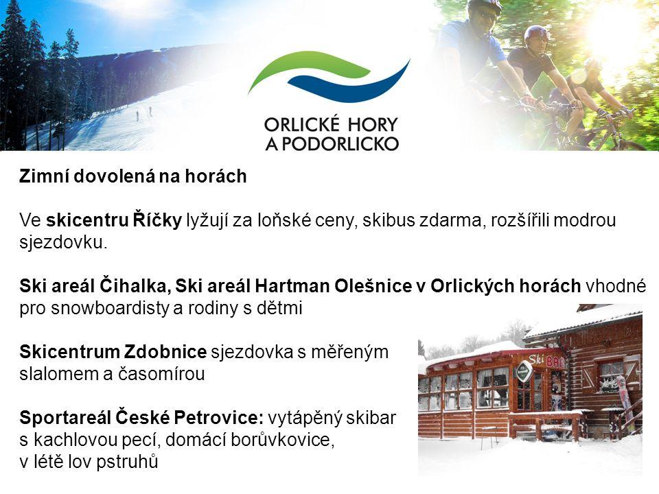 Zimní dovolená na horách Ve skicentru Říčky lyžují za loňské ceny, skibus zdarma, rozšířili modrou sjezdovku.