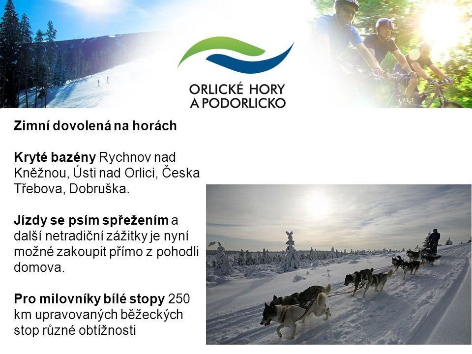 Zimní dovolená na horách Kryté bazény Rychnov nad Kněžnou, Ústi nad Orlici, Česka Třebova, Dobruška.