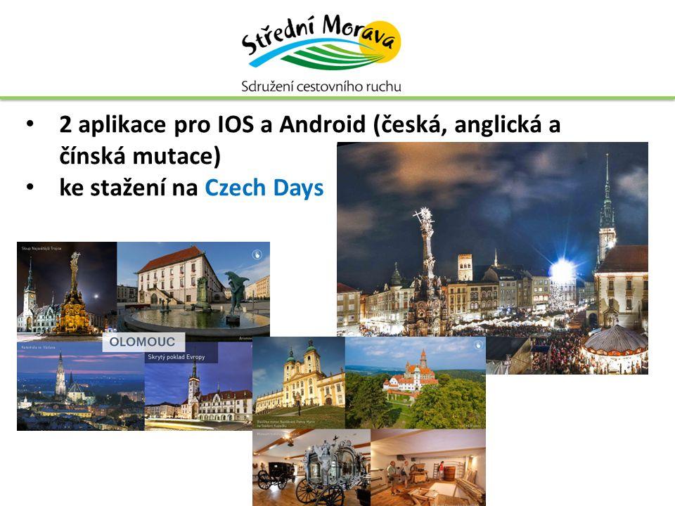 2 aplikace pro IOS a Android (česká, anglická a čínská mutace) ke stažení na Czech Days