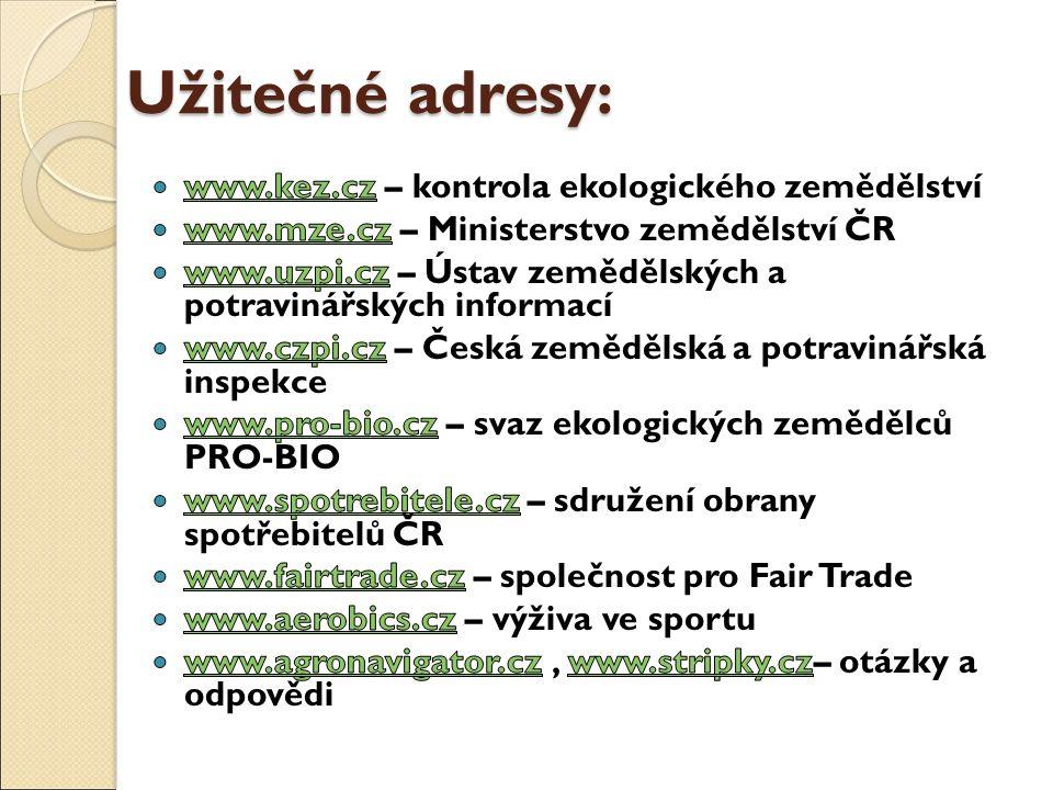 Užitečné adresy: