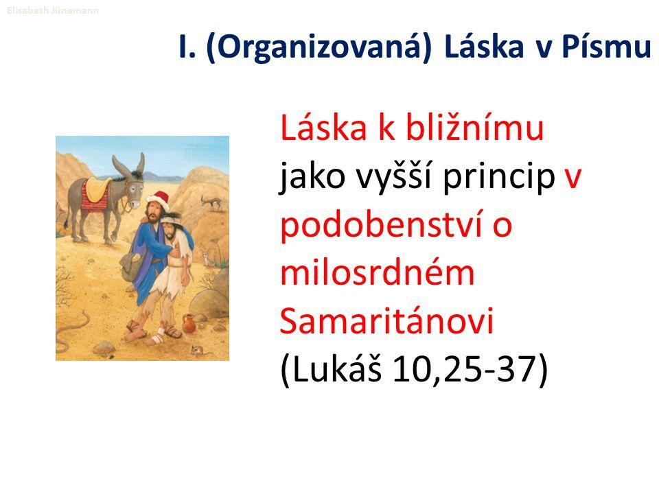 Láska k bližnímu jako vyšší princip v podobenství o milosrdném Samaritánovi (Lukáš 10,25-37) Elisabeth Jünemann I.