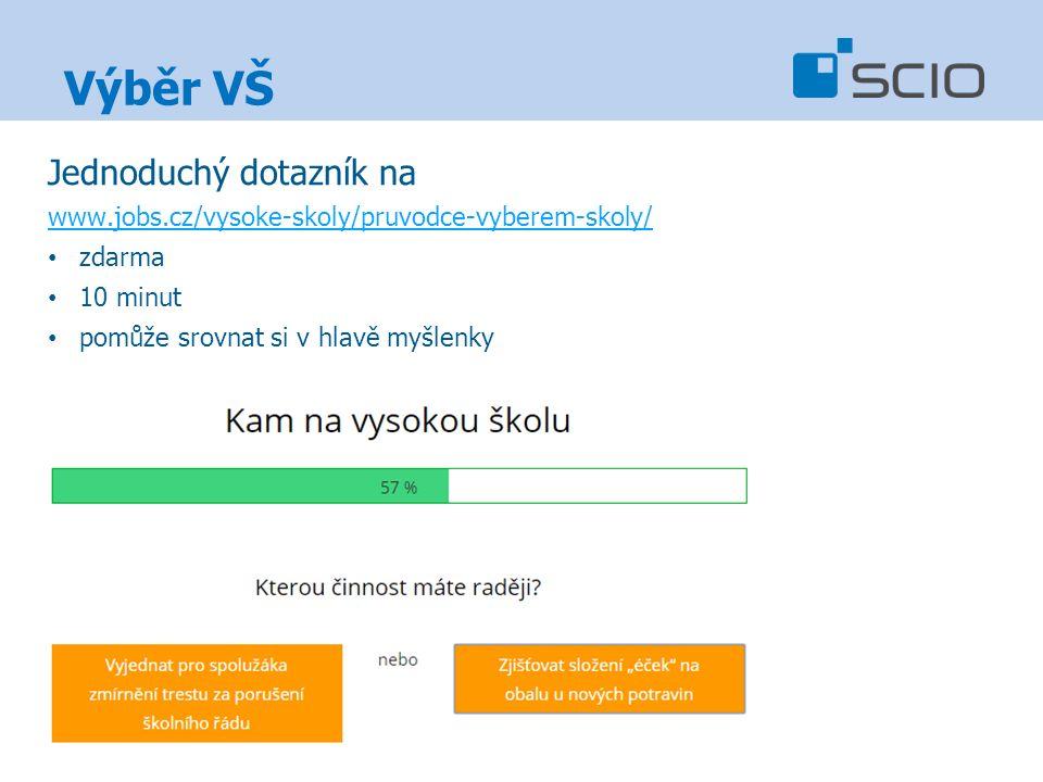 Výběr VŠ Jednoduchý dotazník na www.jobs.cz/vysoke-skoly/pruvodce-vyberem-skoly/ zdarma 10 minut pomůže srovnat si v hlavě myšlenky