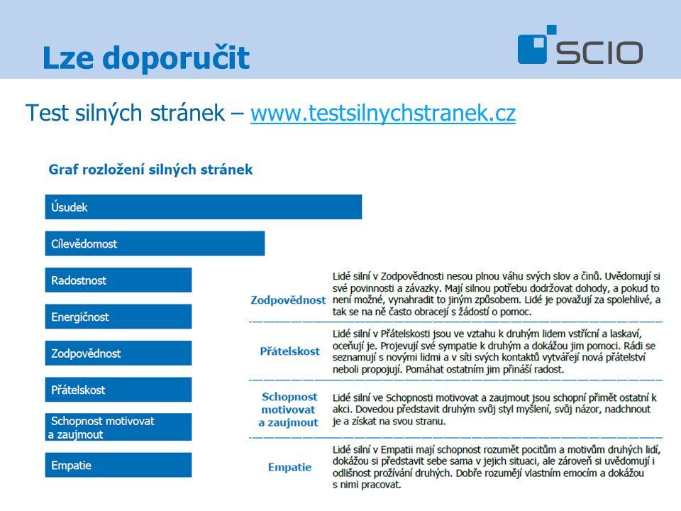 Lze doporučit Test silných stránek – www.testsilnychstranek.czwww.testsilnychstranek.cz