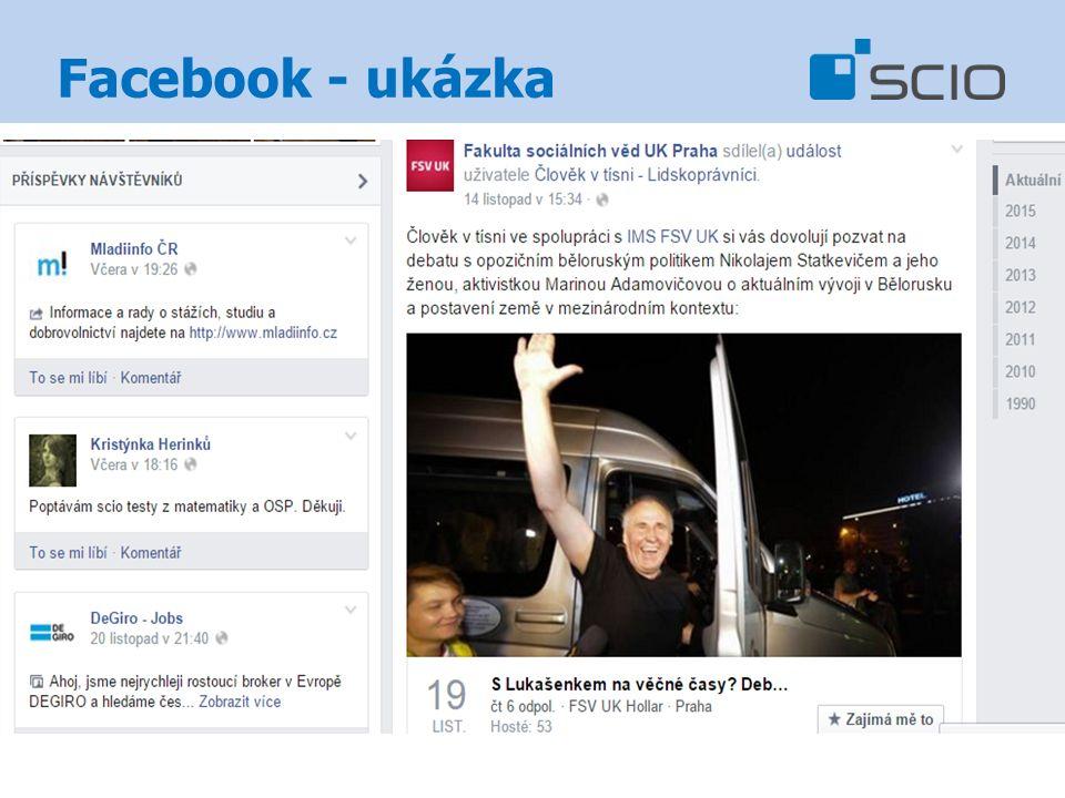 Facebook - ukázka