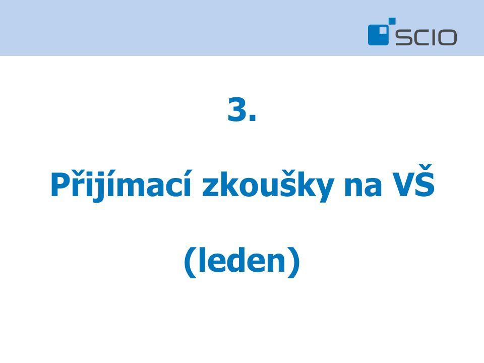 3. Přijímací zkoušky na VŠ (leden)