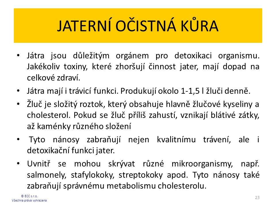 JATERNÍ OČISTNÁ KŮRA Játra jsou důležitým orgánem pro detoxikaci organismu.