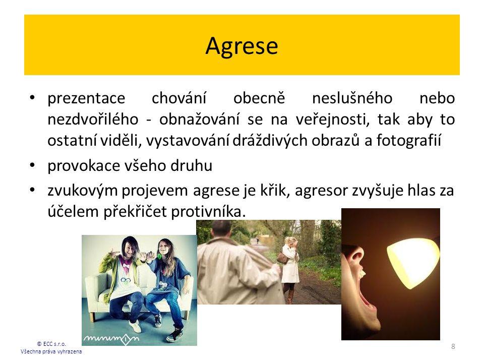 Agrese prezentace chování obecně neslušného nebo nezdvořilého - obnažování se na veřejnosti, tak aby to ostatní viděli, vystavování dráždivých obrazů