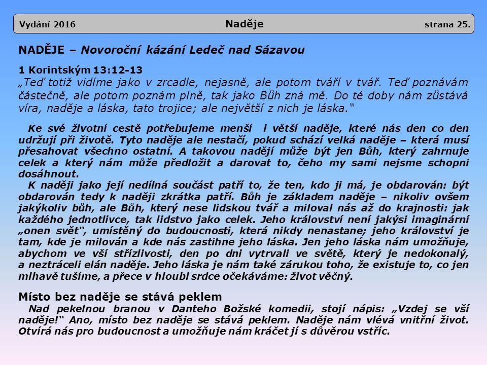 Vydání 2016 Naděje strana 25.