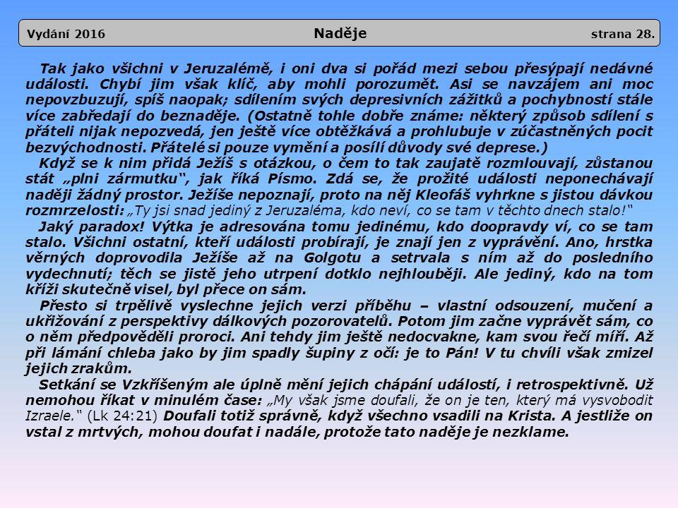 Vydání 2016 Naděje strana 28.
