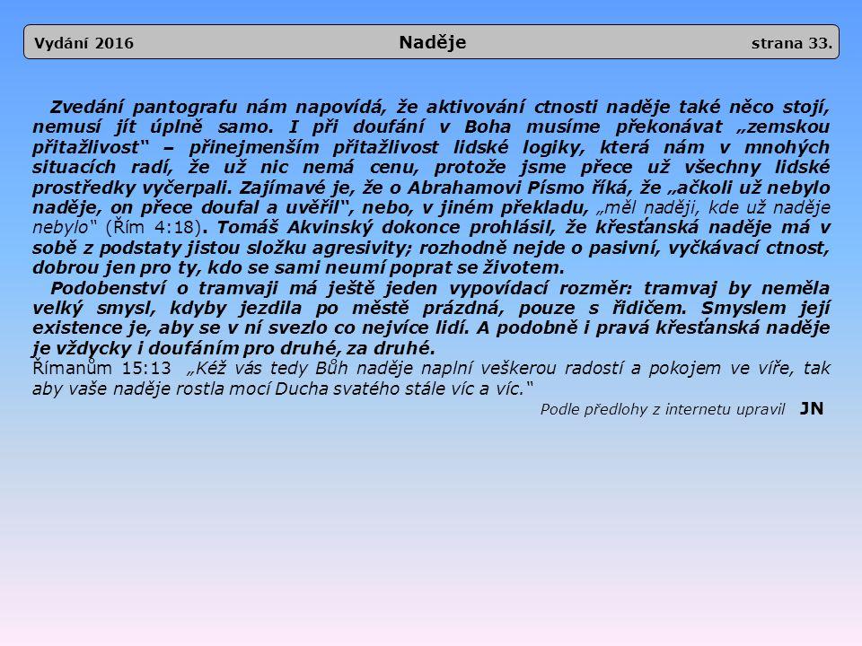 Vydání 2016 Naděje strana 33.