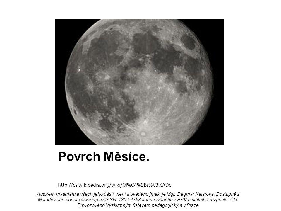 Povrch Měsíce.