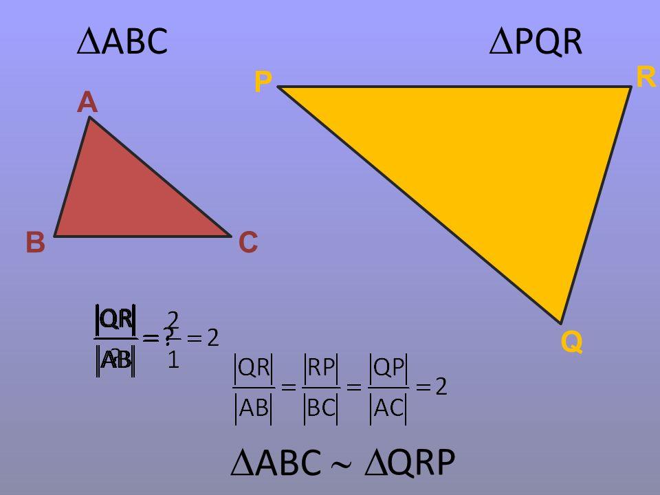  ABC  PQR A BC P Q R  ABC   QRP