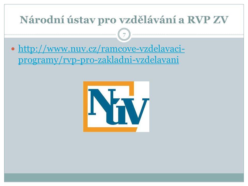 Národní ústav pro vzdělávání a RVP ZV http://www.nuv.cz/ramcove-vzdelavaci- programy/rvp-pro-zakladni-vzdelavani http://www.nuv.cz/ramcove-vzdelavaci- programy/rvp-pro-zakladni-vzdelavani 7