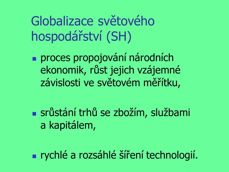 Úkoly Uveď: konkrétní příklady důsledků globalizace (kladných a záporných), jak se tě osobně tyto kladné a záporné důsledky globalizace dotýkají.