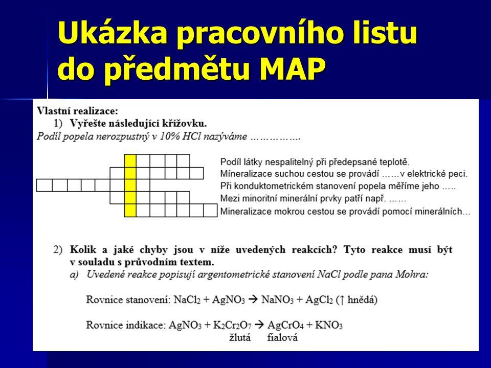 Ukázka pracovního listu do předmětu MAP 32