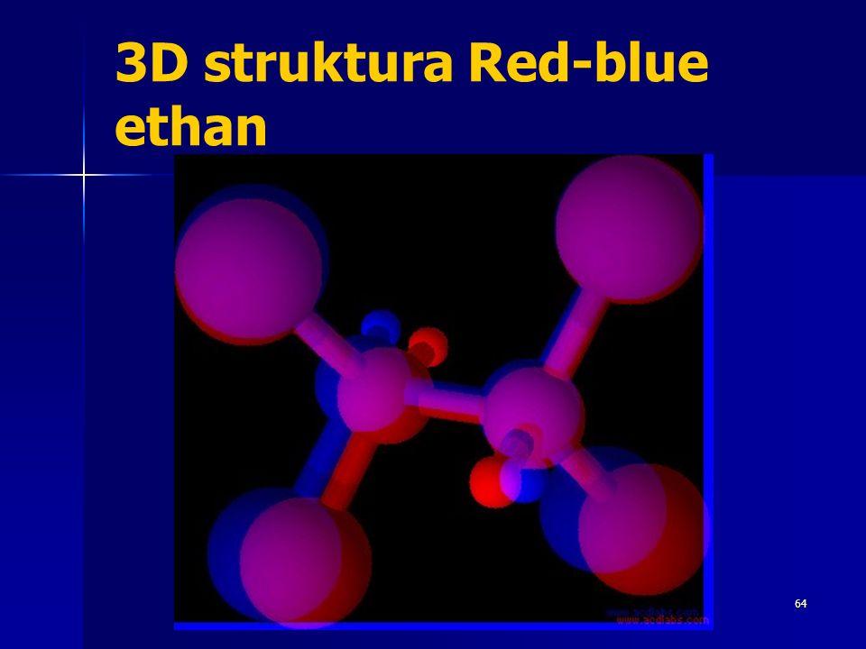 3D struktura Red-blue ethan 64