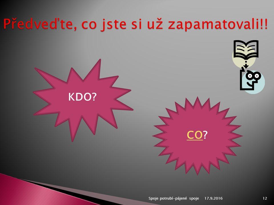 Spoje potrubí-pájené spoje12 KDO CO