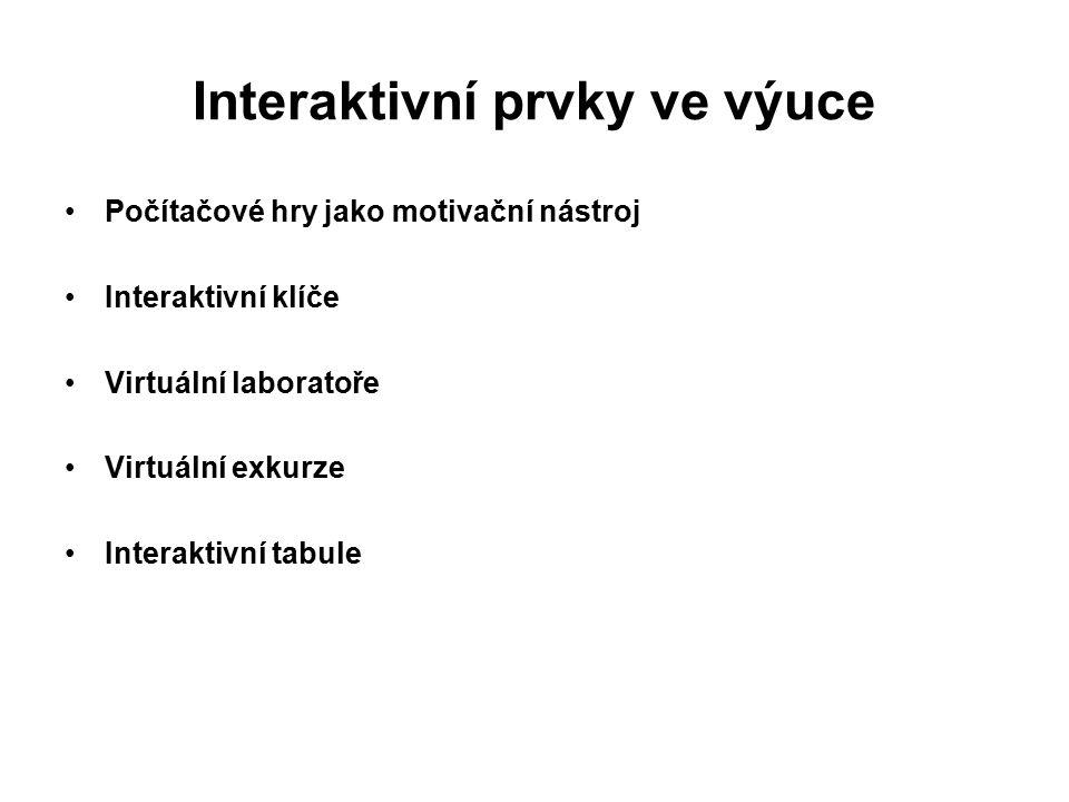 Interaktivní prvky ve výuce
