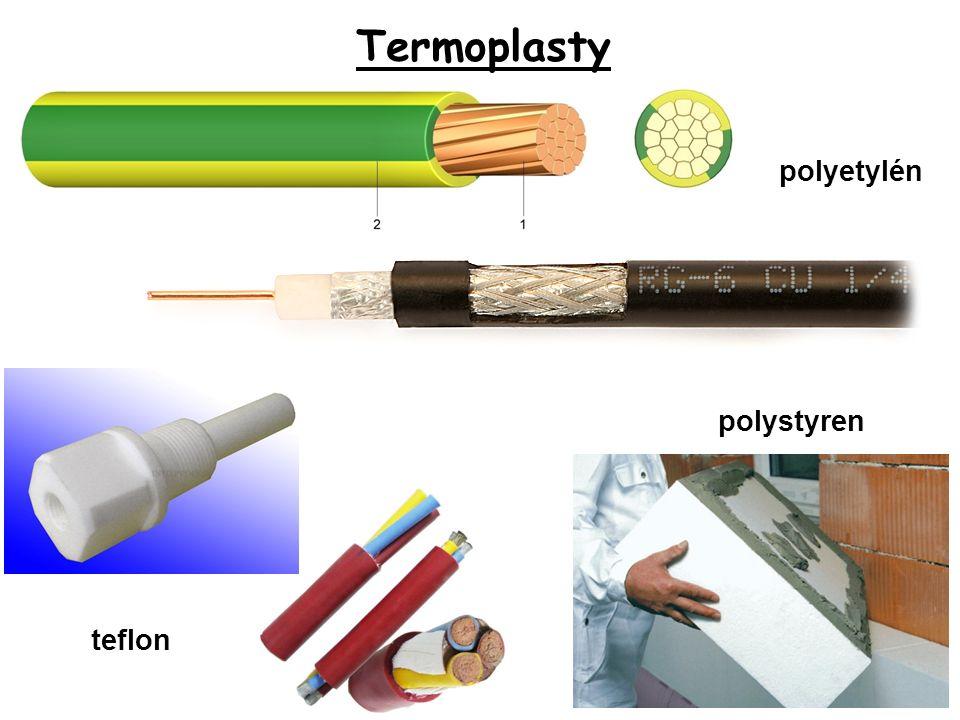Termoplasty polyetylén teflon polystyren