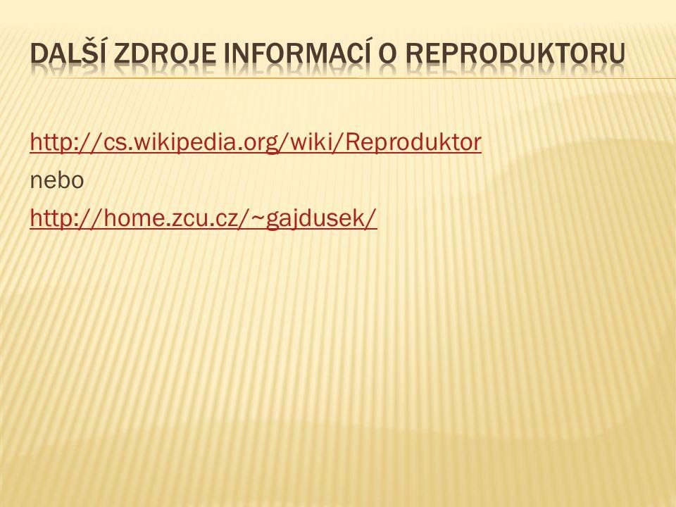 http://cs.wikipedia.org/wiki/Reproduktor nebo http://home.zcu.cz/~gajdusek/
