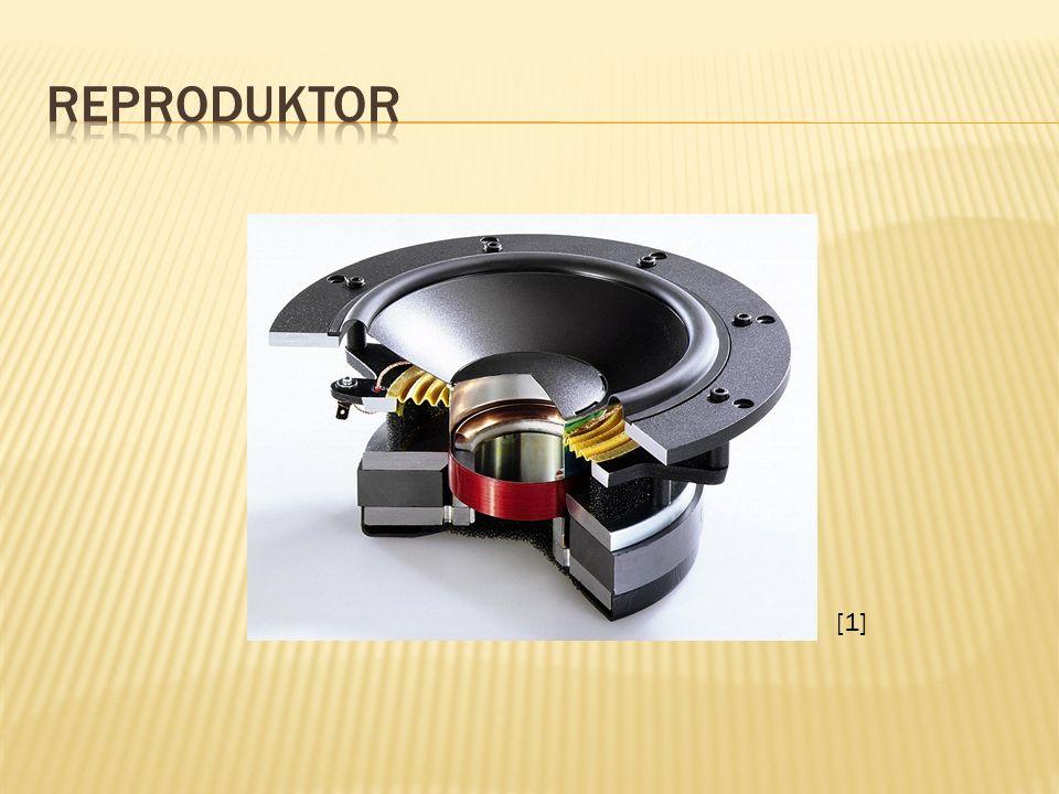  Reproduktory jsou elektro-akustické měniče, tj.