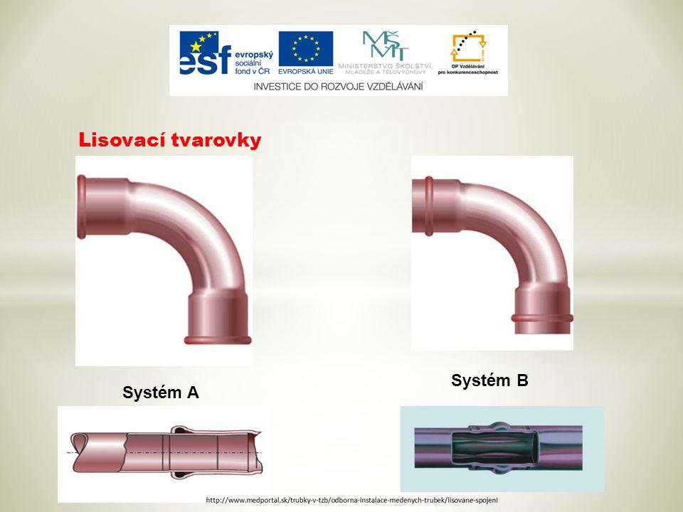Lisovací tvarovky Systém A Systém B