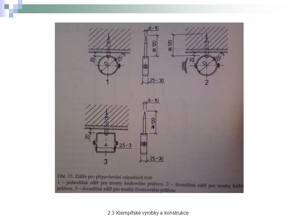 Žlabové háky → slouží k připevnění střešních žlabů ke střešní konstrukci