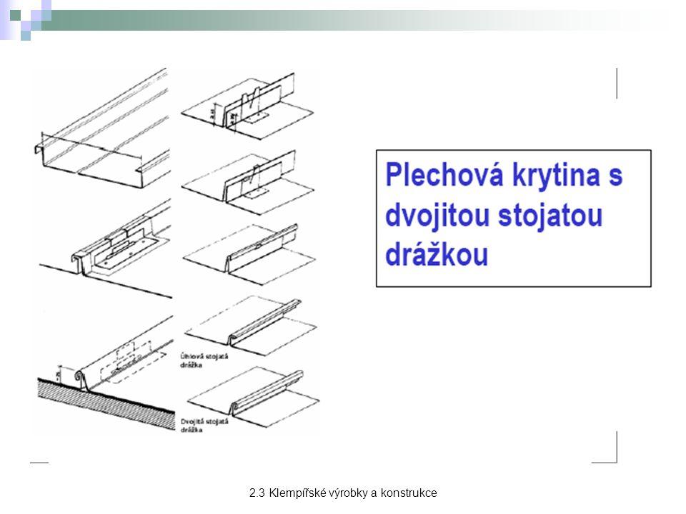 Ostatní klempířské prvky Střešní poklopy - slouží k průlezům na střechu, normalizovány v rozměrech 600 x 600 a 600 x 800 mm.