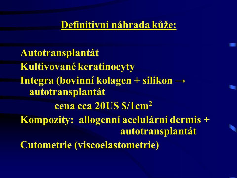 CHIRURGICKÁ STRATEGIE metoda otevřená x zavřená Konzervativní postupy: - antibakteriální krémy - desinfekční roztoky Radikální postupy: - Primární ošetření- Transplantace - auto - Uvolňující nářezy- homo - Nekrektomie - časná- hetero - odložená - pozdní- Rekonstrukční výkony - tangenciální exscise - exscise v plné tloušťce - avulse