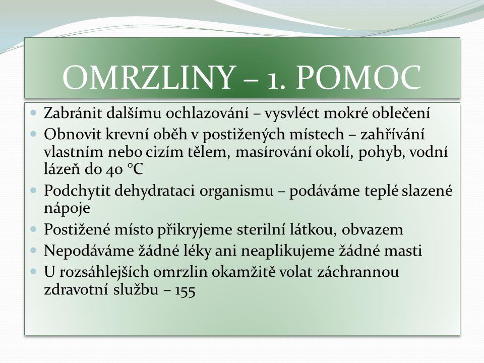 OMRZLINY – 1.