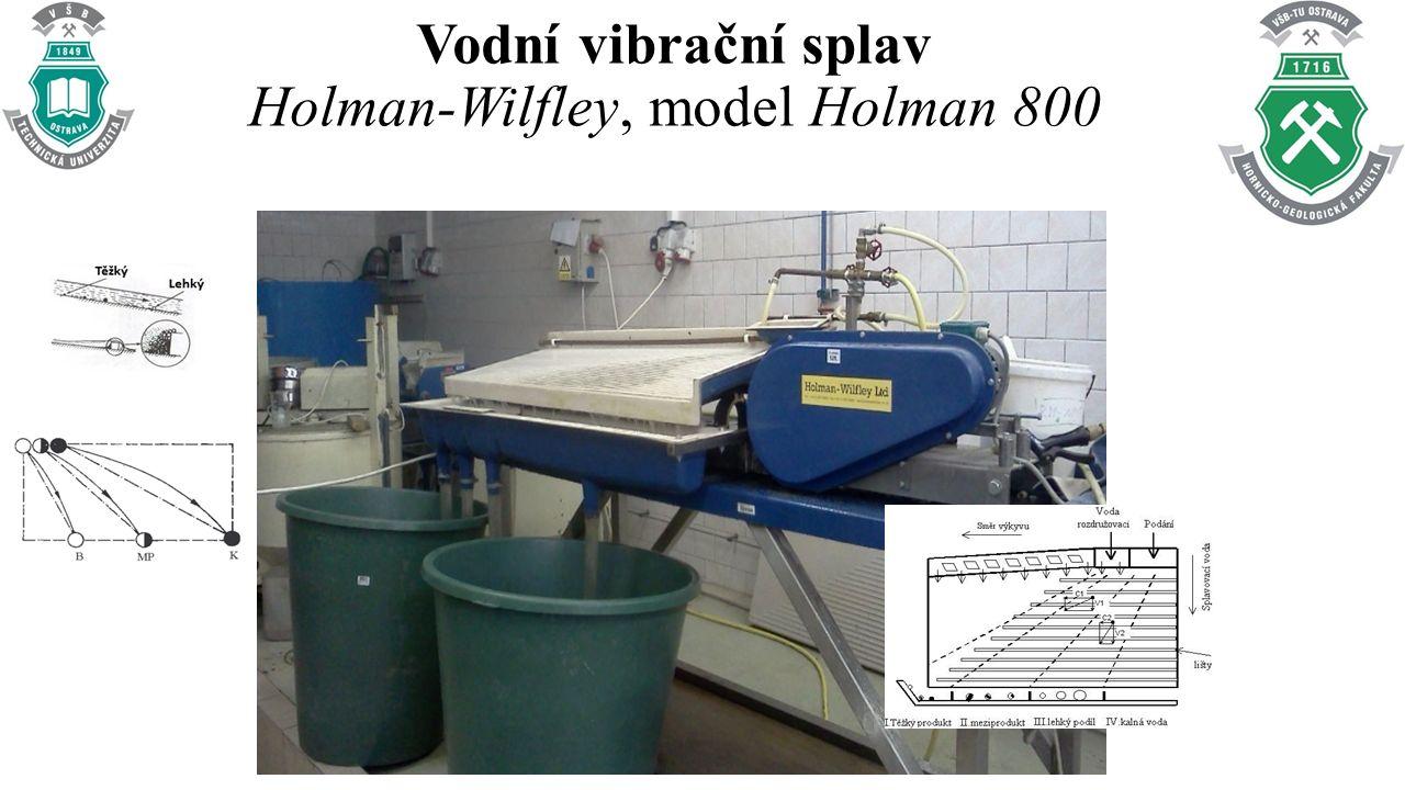 Vodní vibrační splav Holman-Wilfley, model Holman 800