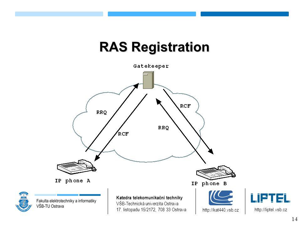 RAS Registration Katedra telekomunikační techniky VŠB-Technická univerzita Ostrava 17.