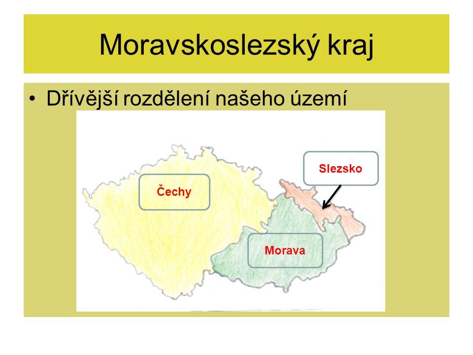 Moravskoslezský kraj Mapa Moravskoslezského kraje Moravskoslezský kraj