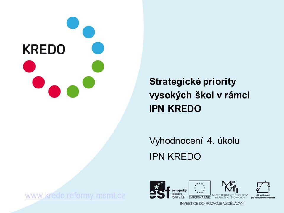 Strategické priority vysokých škol v rámci IPN KREDO Vyhodnocení 4.
