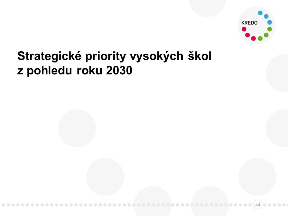 Strategické priority vysokých škol z pohledu roku 2030 44
