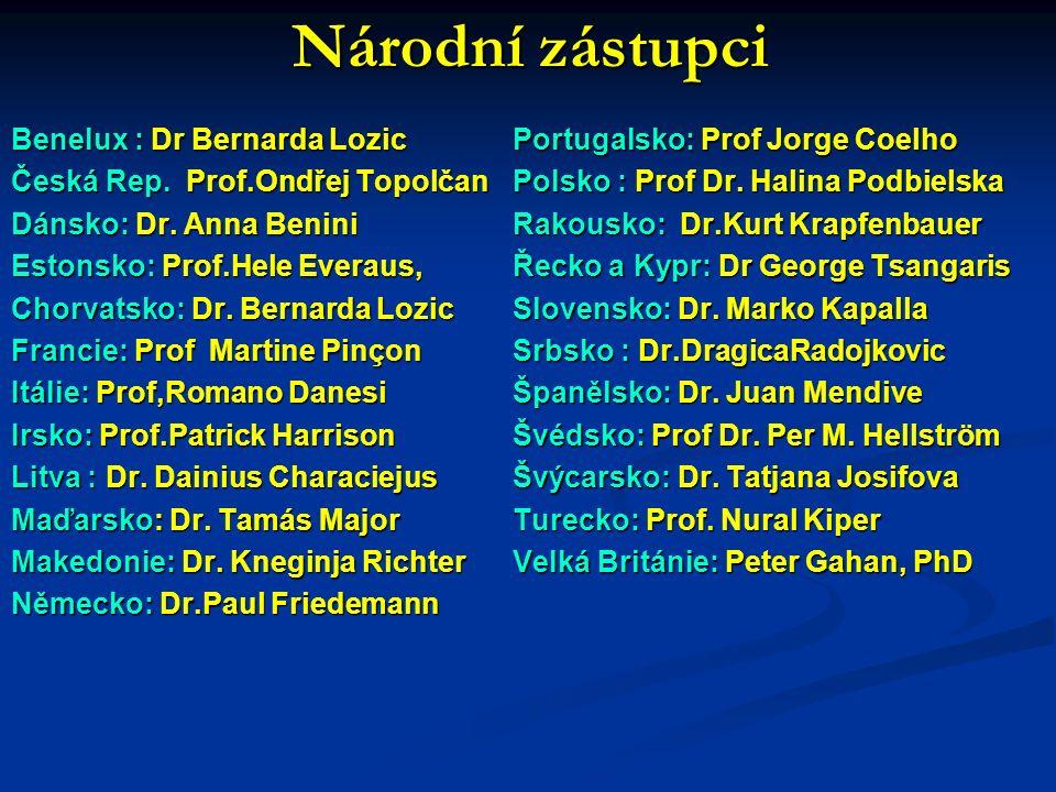 Národní zástupci Národní zástupci Benelux : Dr Bernarda Lozic Česká Rep.