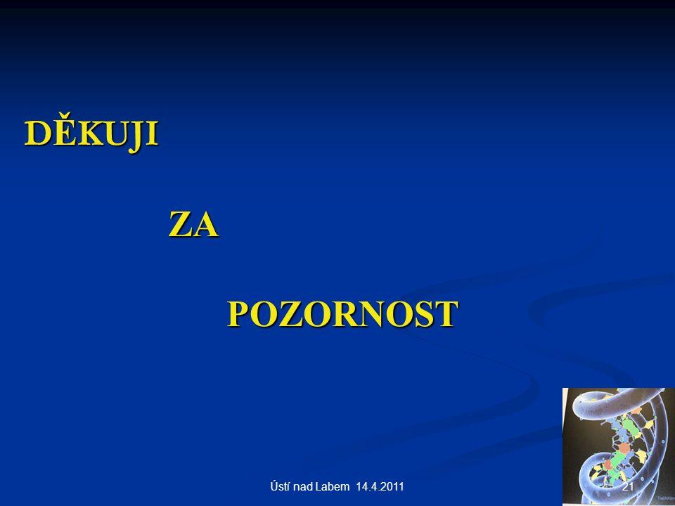 D Ě KUJI ZA POZORNOST 21Ústí nad Labem 14.4.2011