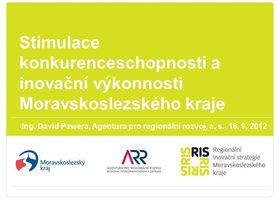 Stimulace konkurenceschopnosti a inovační výkonnosti Moravskoslezského kraje Ing.