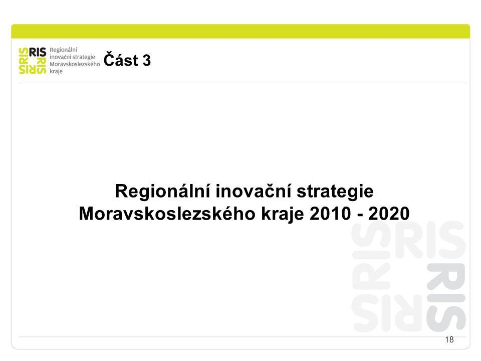 Část 3 18 Regionální inovační strategie Moravskoslezského kraje 2010 - 2020