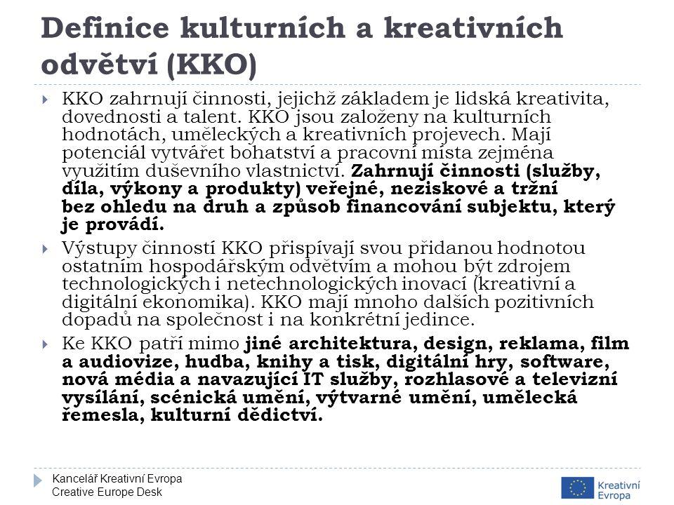Kancelář Kreativní Evropa Creative Europe Desk Kdo může žádat.