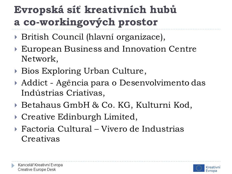 Kancelář Kreativní Evropa Creative Europe Desk Jak probíhá výběr projektů  Vyhodnocení způsobilosti – splnění podmínek  Hodnocení kvality projektu  Individuální hodnocení (nezávislí experti)  Dosažení konsensu  Dosažení druhého konsensu (jen kategorie 2)  Vyjednávání s žadateli