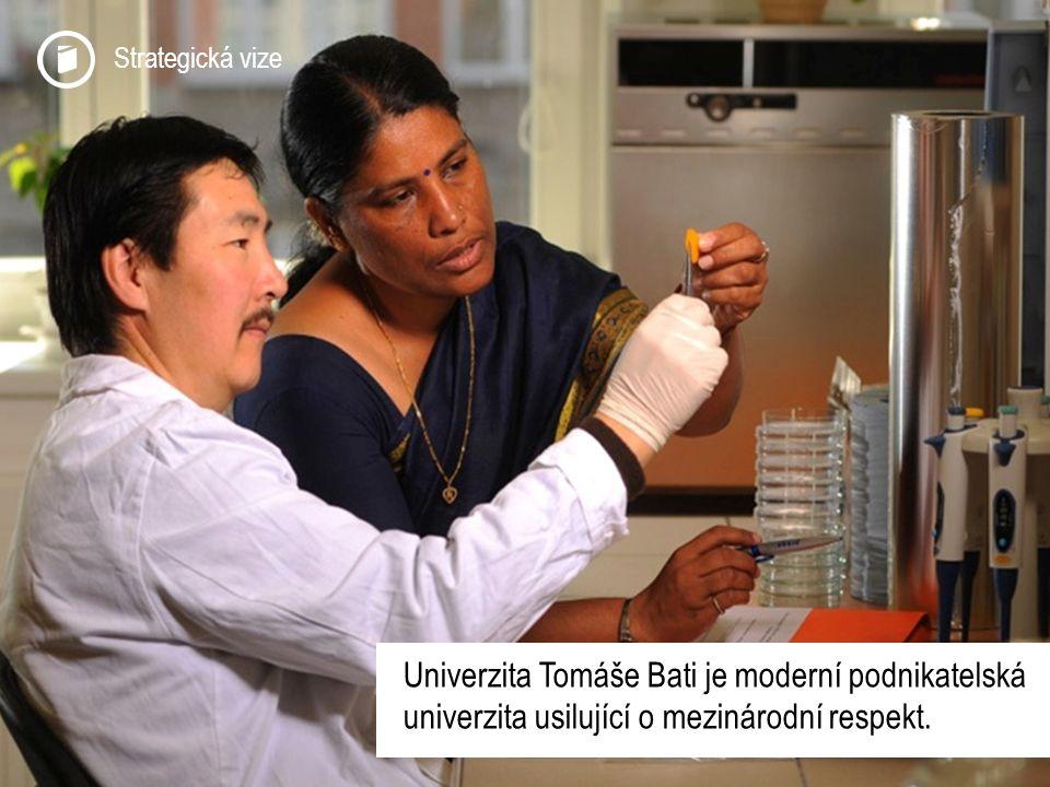 Strategická vize Univerzita Tomáše Bati je moderní podnikatelská univerzita usilující o mezinárodní respekt.