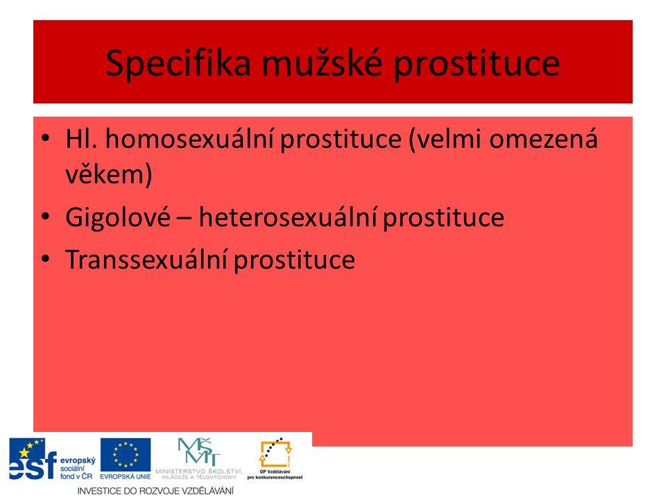 Specifika mužské prostituce Hl.