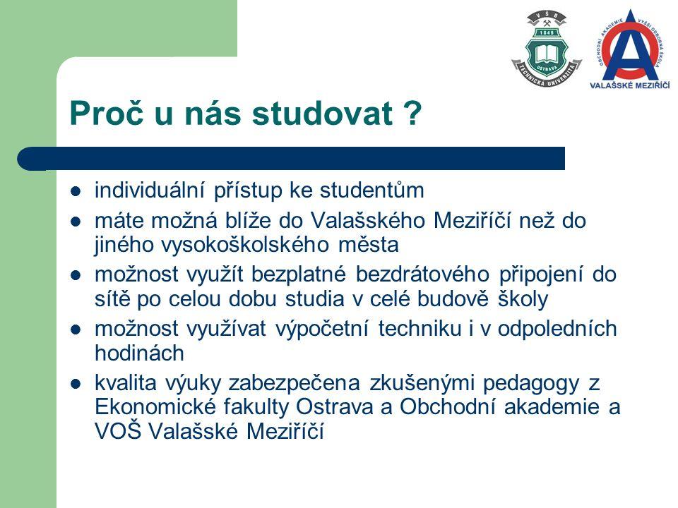 Proč u nás studovat .